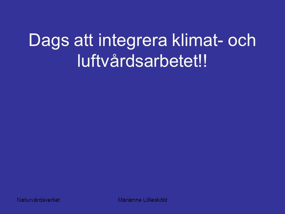 NaturvårdsverketMarianne Lilliesköld Dags att integrera klimat- och luftvårdsarbetet!!