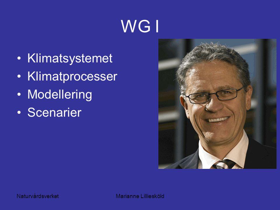 NaturvårdsverketMarianne Lilliesköld WG I Klimatsystemet Klimatprocesser Modellering Scenarier