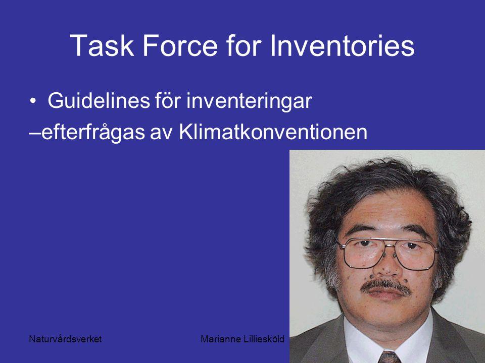 NaturvårdsverketMarianne Lilliesköld Task Force for Inventories Guidelines för inventeringar –efterfrågas av Klimatkonventionen