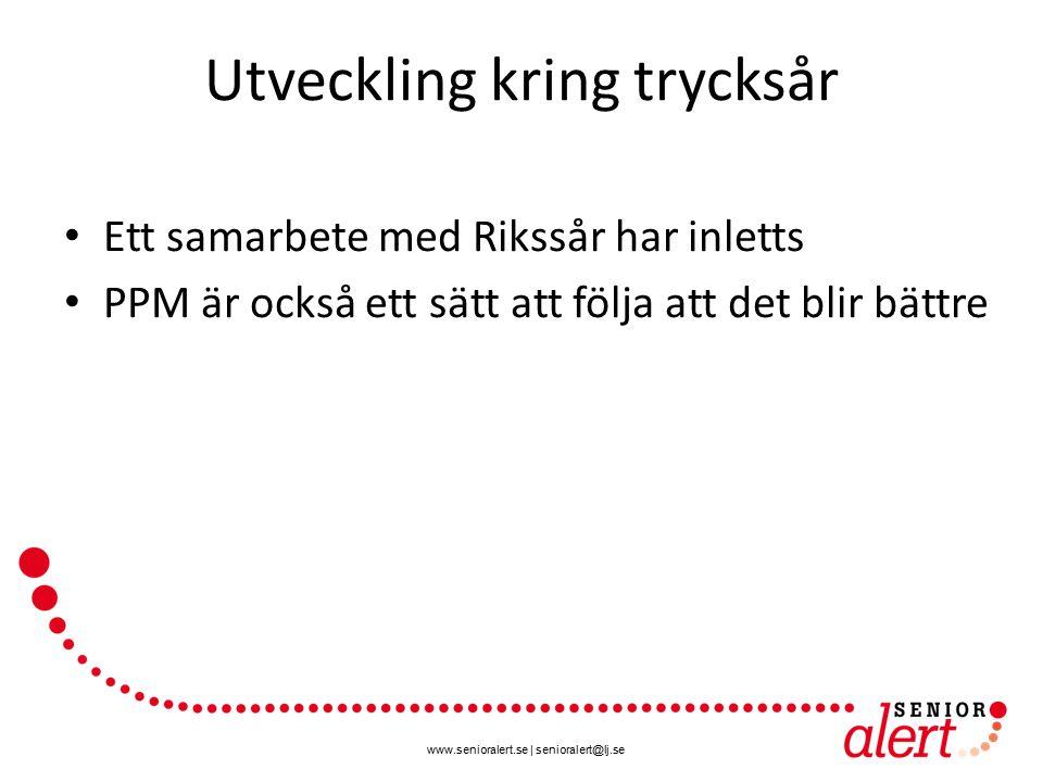 www.senioralert.se | senioralert@lj.se Utveckling kring trycksår Ett samarbete med Rikssår har inletts PPM är också ett sätt att följa att det blir bä