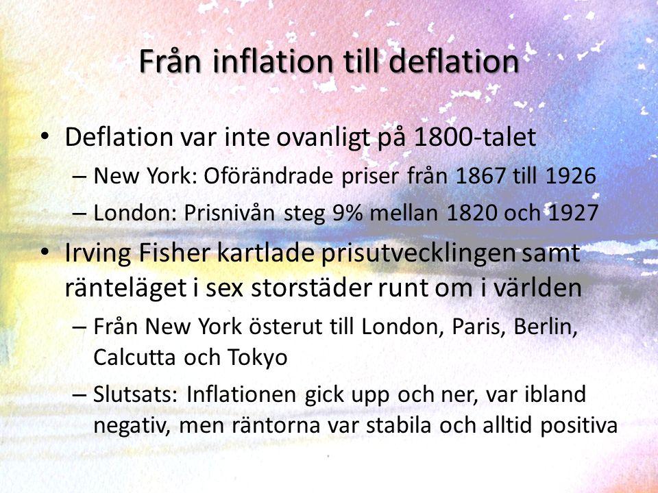 Räntor och inflation New York och London New York 1867-1922London 1825-1927