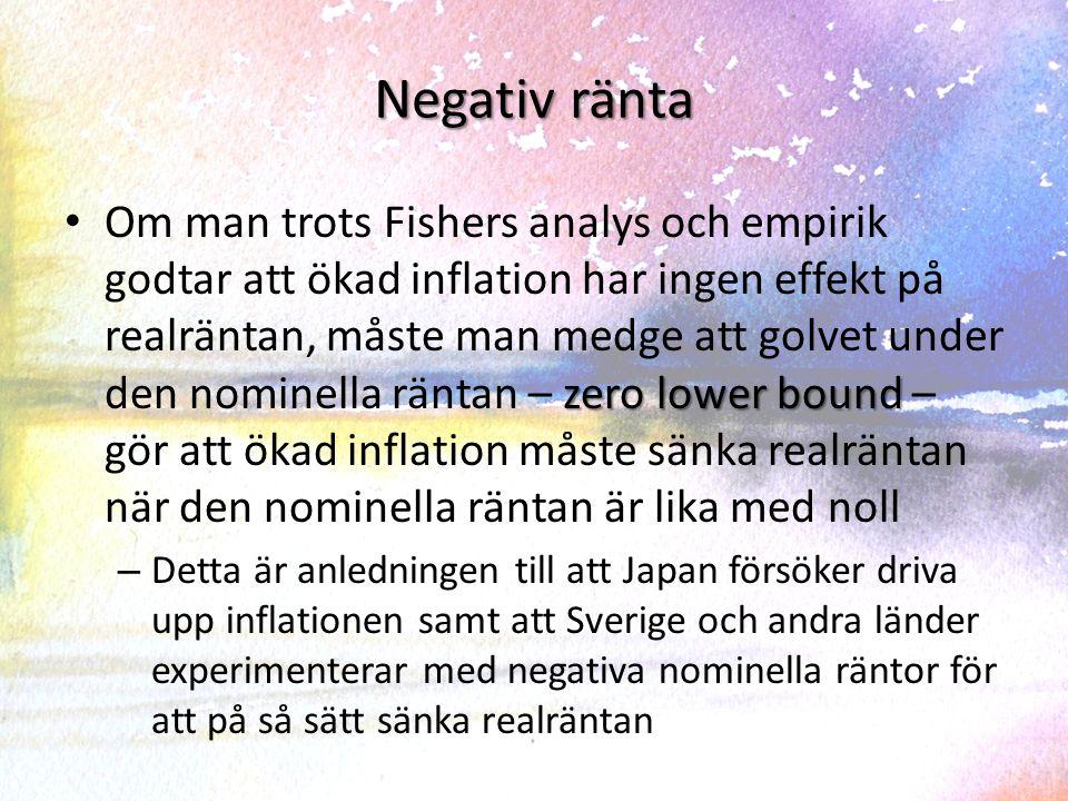 Sverige: Räntor och inflation 1970-2013 Nominell ränta och inflationRealränta och inflation