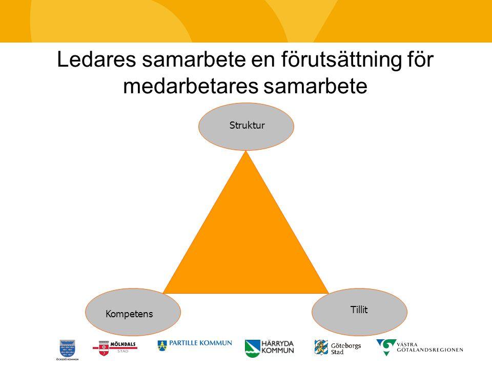 Ledares samarbete en förutsättning för medarbetares samarbete Struktur Kompetens Tillit