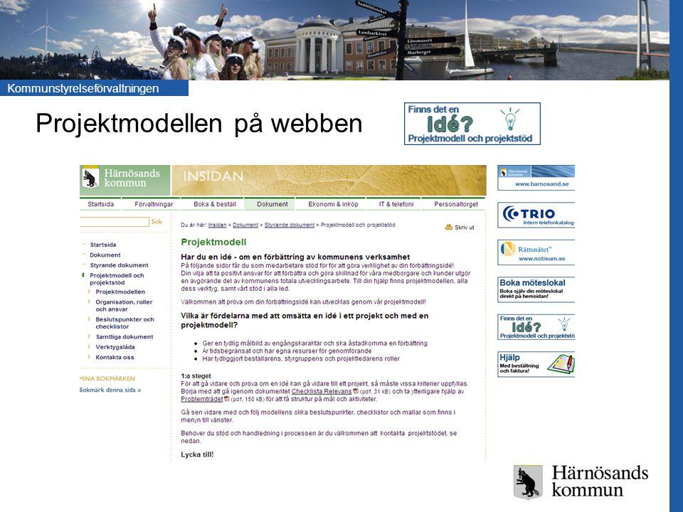 Kommunstyrelseförvaltningen Projektmodellen på webben