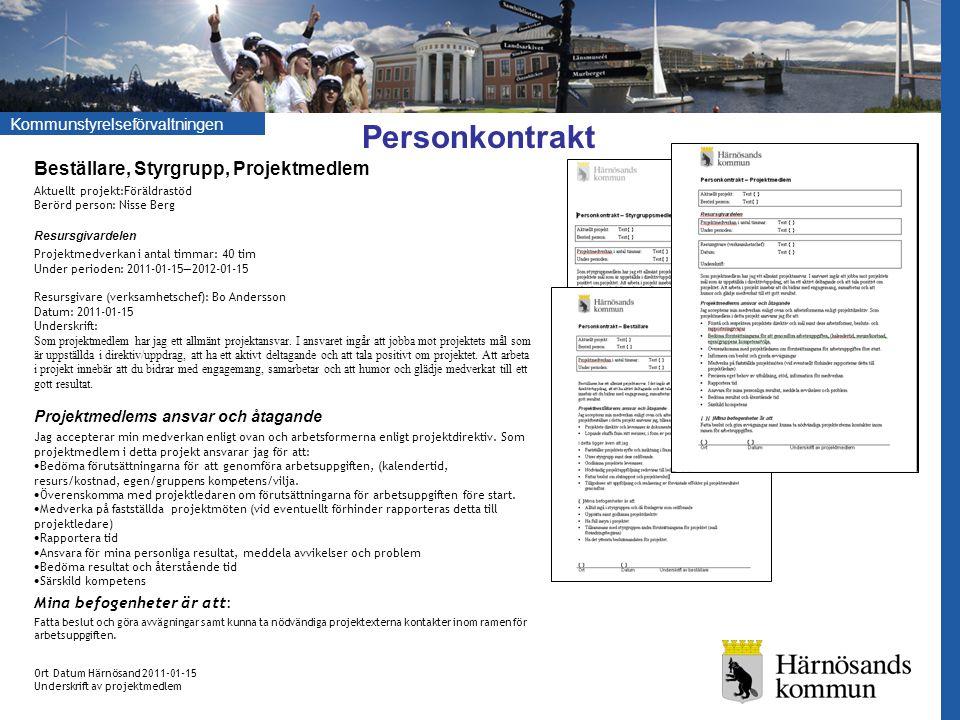 Kommunstyrelseförvaltningen Checklista Genomförande Ex.
