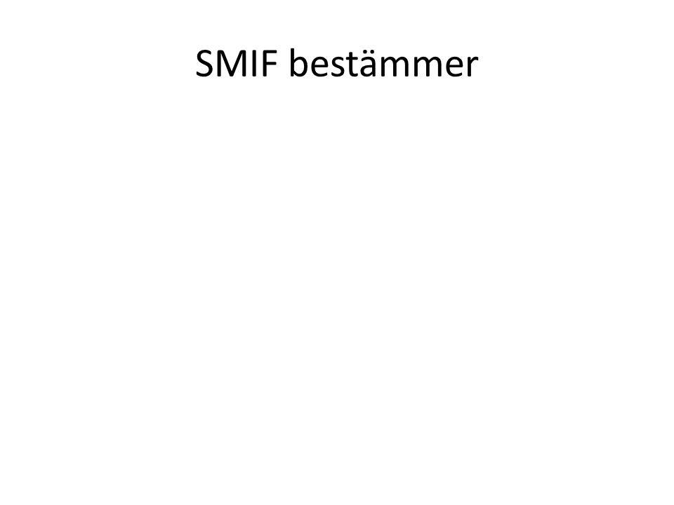 SMIF bestämmer