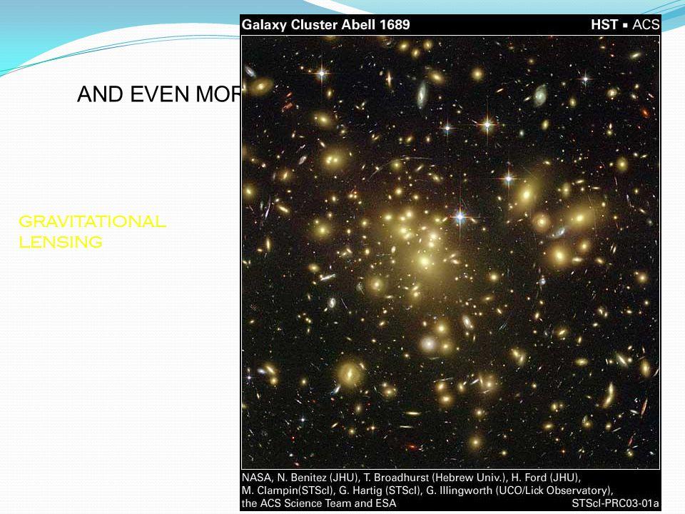 "Universe GRAVITATIONAL LENSING AND EVEN MORE EVIDENCE FOR ""DARK MATTER"""