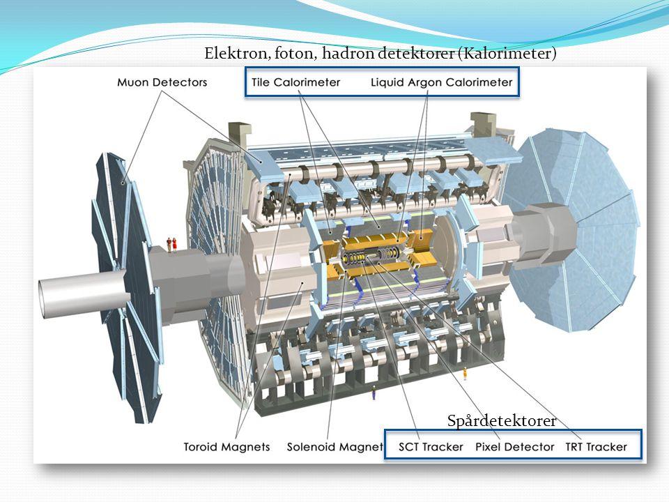 Spårdetektorer Elektron, foton, hadron detektorer (Kalorimeter)