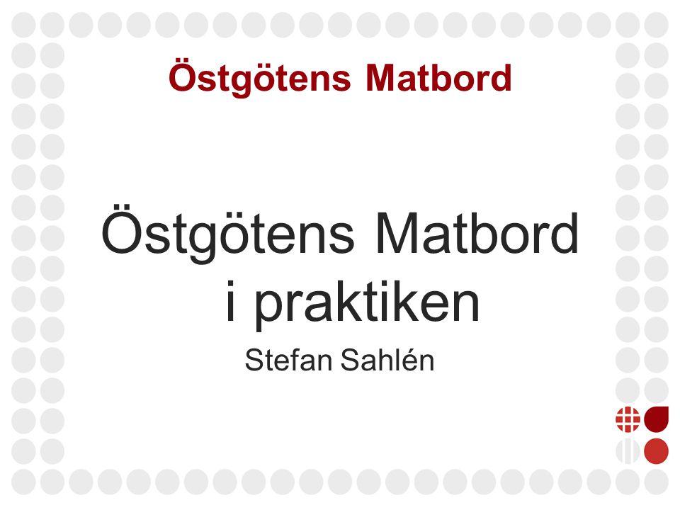 Östgötens Matbord Östgötens Matbord i praktiken Stefan Sahlén