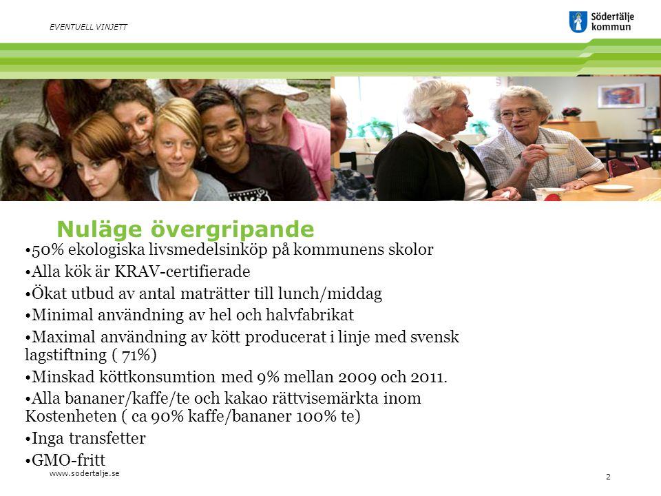 www.sodertalje.se 3 60 procent eko i kommunen – utopi eller möjlighet.