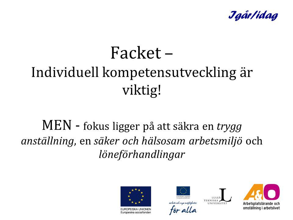 Idag/imorgon Jämställdhetsintegrering En möjliggörare för ett hållbart arbetsplatslärande