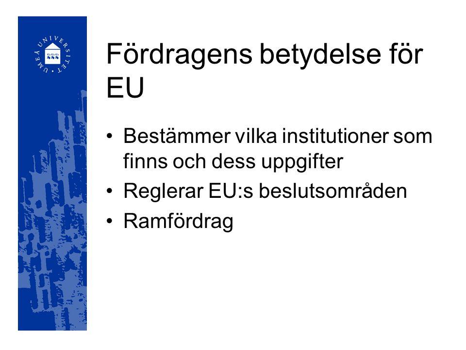 Europeiska rådet Konstitutionella överenskommelser Samordnar politik Löser konflikter