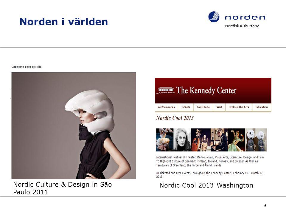 Nordisk Kulturfond 7 Vad stödjer Fonden.
