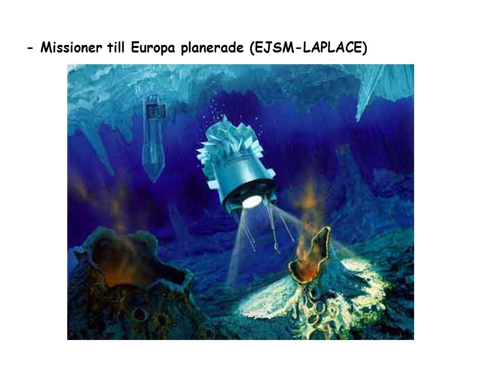 - Missioner till Europa planerade (EJSM-LAPLACE)