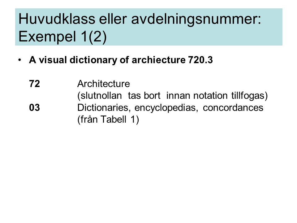 A visual dictionary of archiecture 720.3 72Architecture (slutnollan tas bort innan notation tillfogas) 03Dictionaries, encyclopedias, concordances (fr