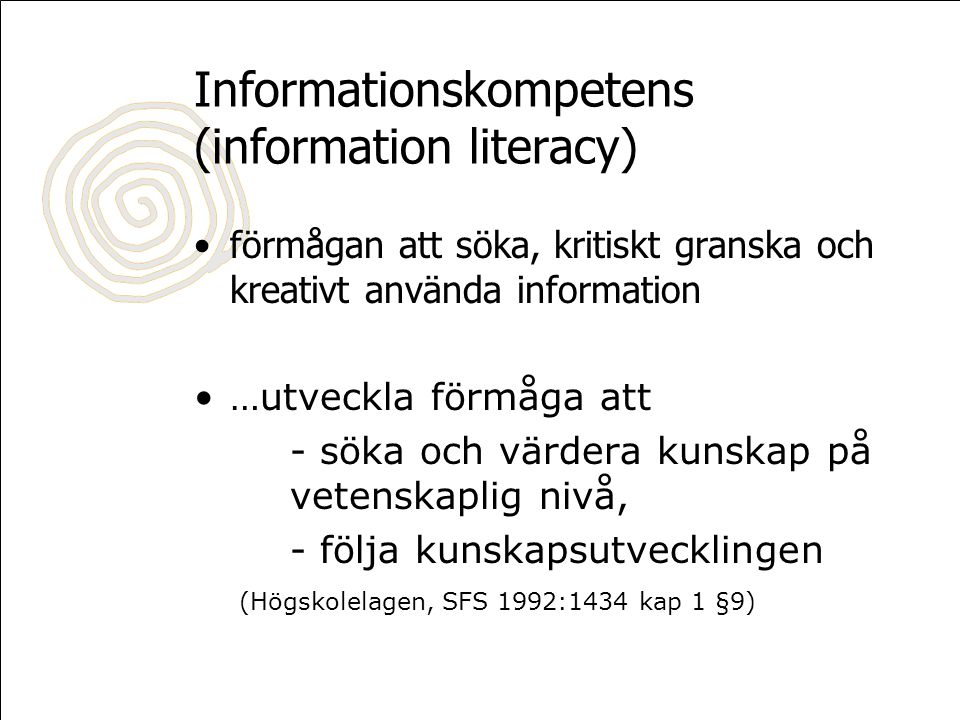 Information Literacy IT Literacy Computer Literacy Library Skills Information Skills Learning to learn
