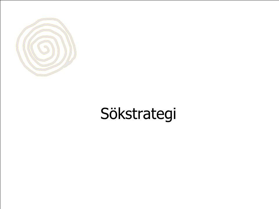 Sökstrategi