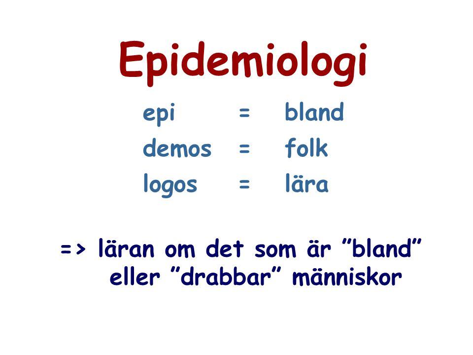 """epi=bland demos=folk logos=lära => läran om det som är """"bland"""" eller """"drabbar"""" människor"""