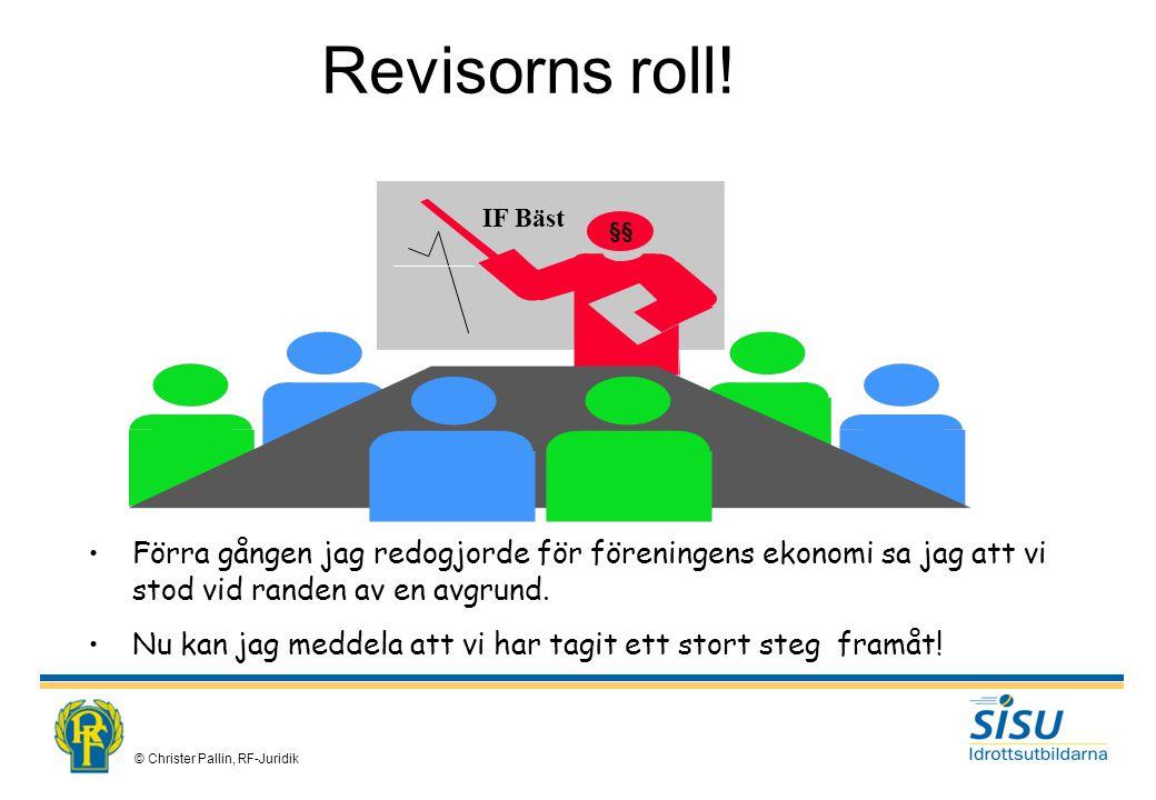 © Christer Pallin, RF-Juridik Revisorns roll.