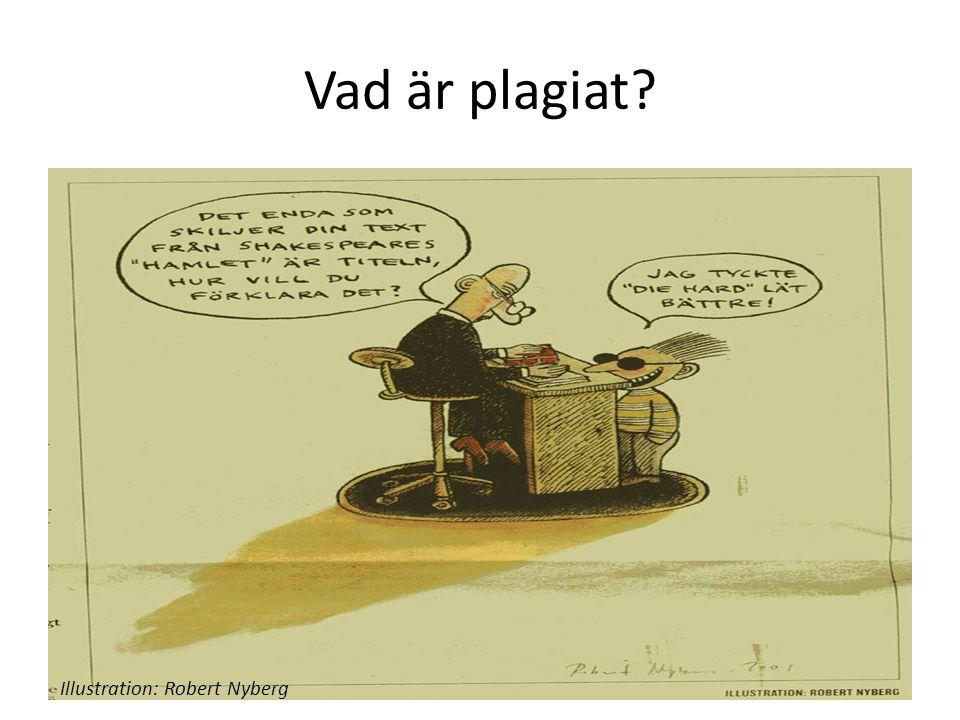 Vad är plagiat? Illustration: Robert Nyberg