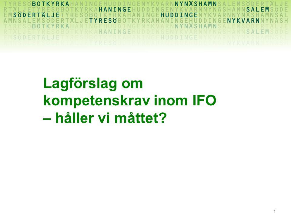 1 Lagförslag om kompetenskrav inom IFO – håller vi måttet