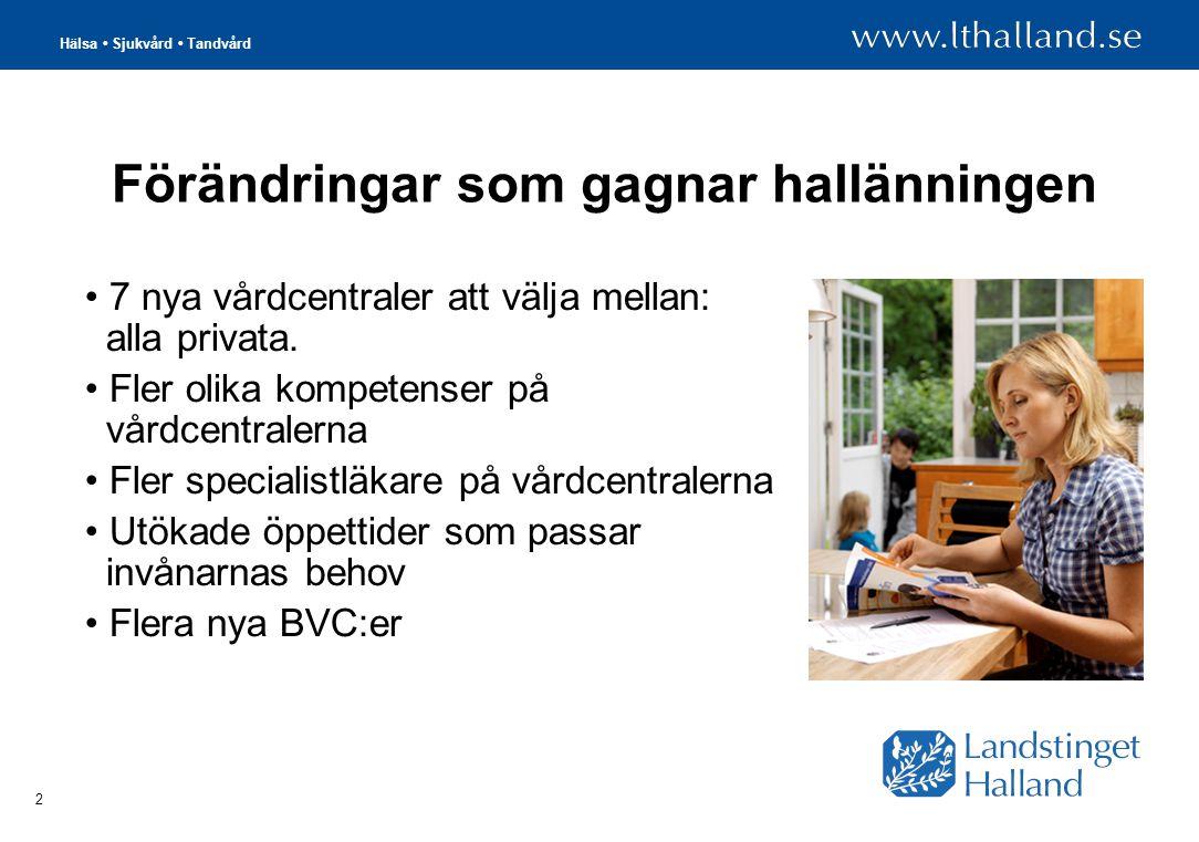 Hälsa Sjukvård Tandvård 3 Privat eller landstingsdrivet.