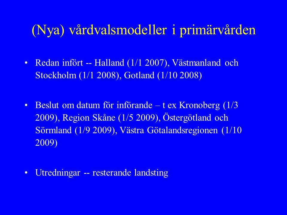 HallandStockholmRegion Skåne (start1/5) Mål och uppdrag Närsjukvård i fokus.