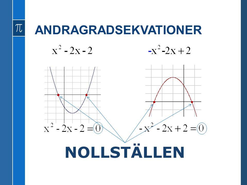 ANDRAGRADSEKVATIONER NOLLSTÄLLEN
