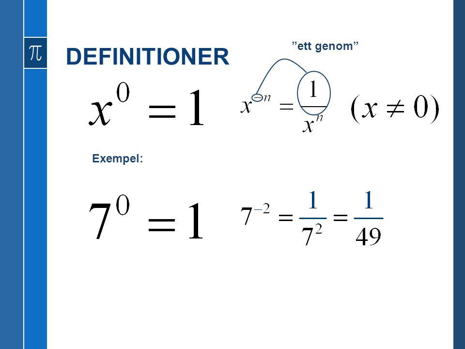 DEFINITIONER Exempel: ett genom