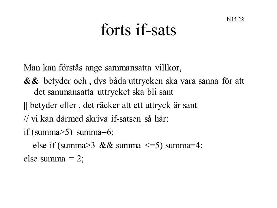 bild 29 Repetitionssatser sid 102- Ibland kan man vilja repetera en eller flera programsatser ett antal gånger.