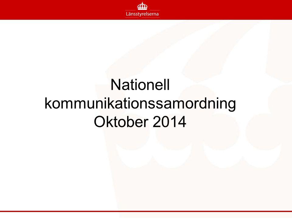 Nationell kommunikationssamordning Oktober 2014