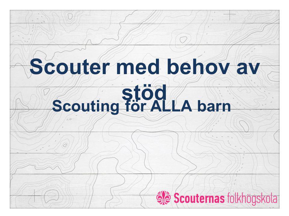 Scouter med behov av stöd Scouting för ALLA barn