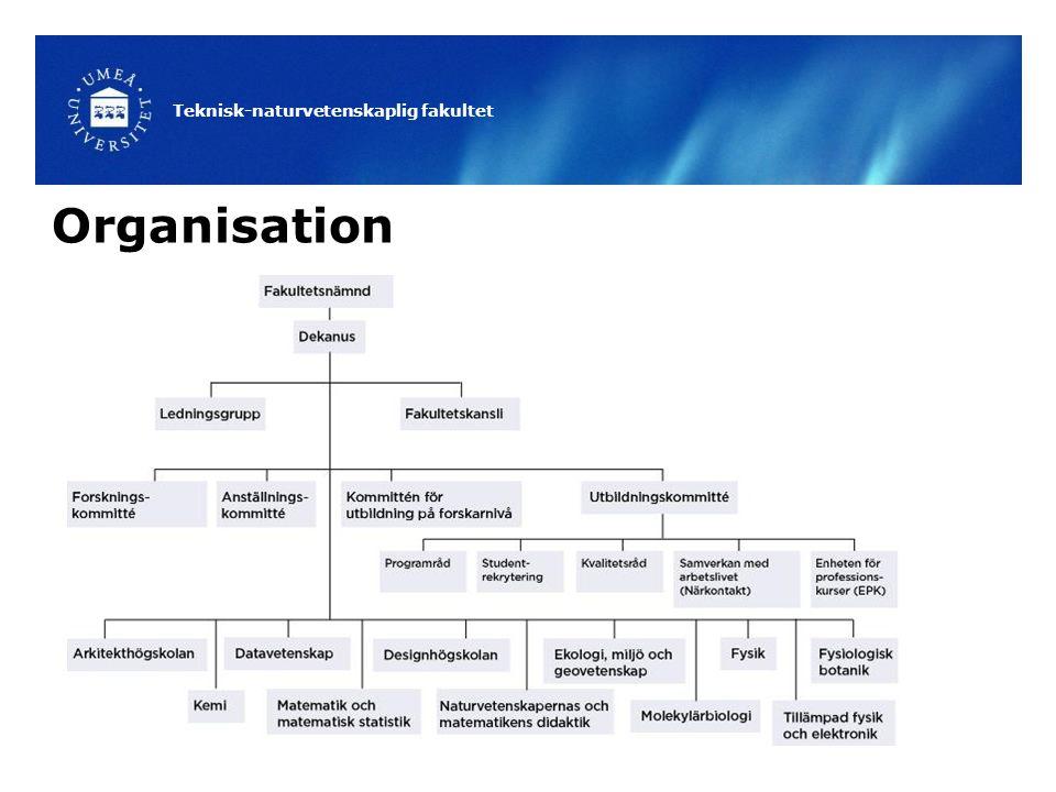 Teknisk-naturvetenskaplig fakultet Organisation