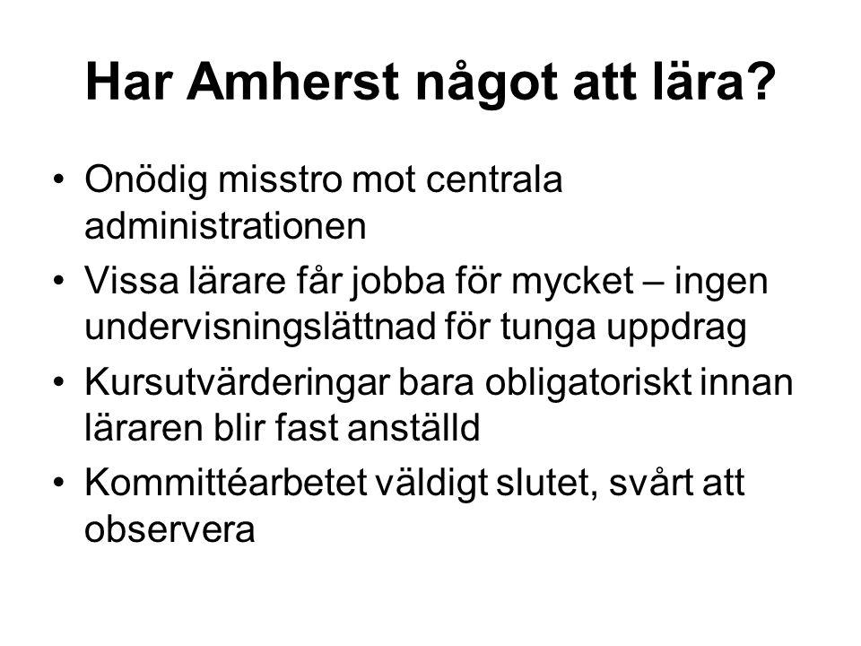 Har Amherst något att lära.