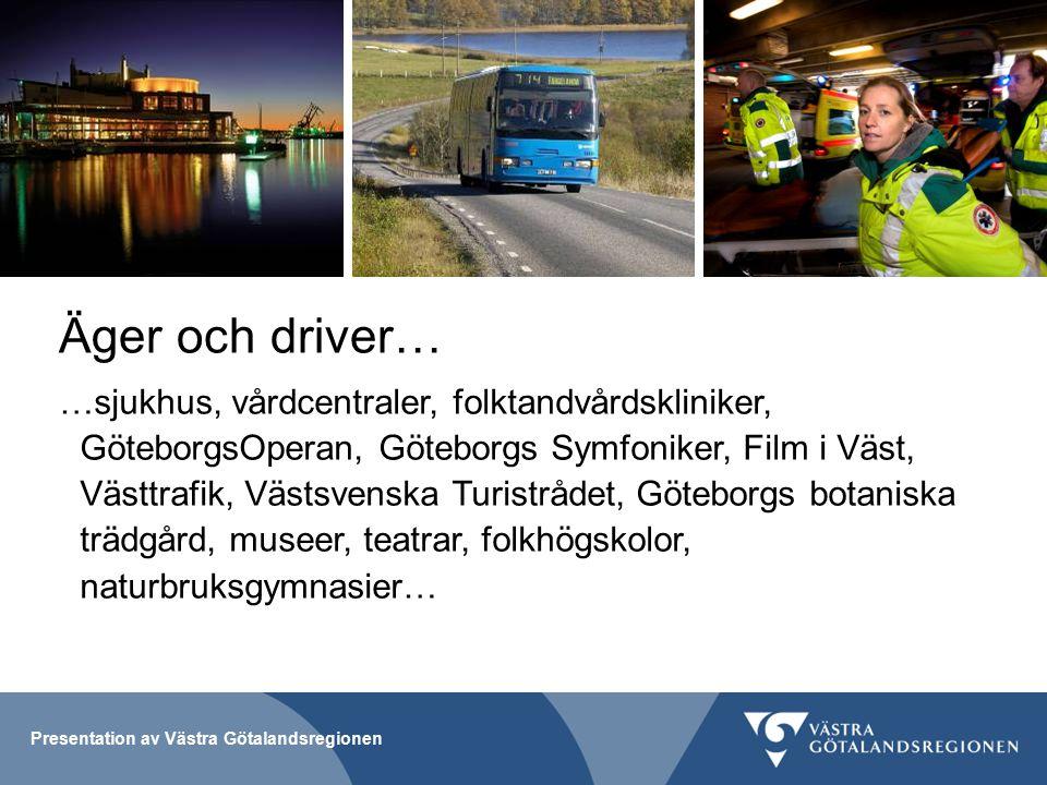 Presentation av Västra Götalandsregionen Att skapa tillväxt och hållbar utveckling Ekonomiskt nyskapande Infrastruktur och transportsystem Kompetensutveckling och livslångt lärande Internationellt samarbete Kultur och kreativitet Miljöteknisk utveckling