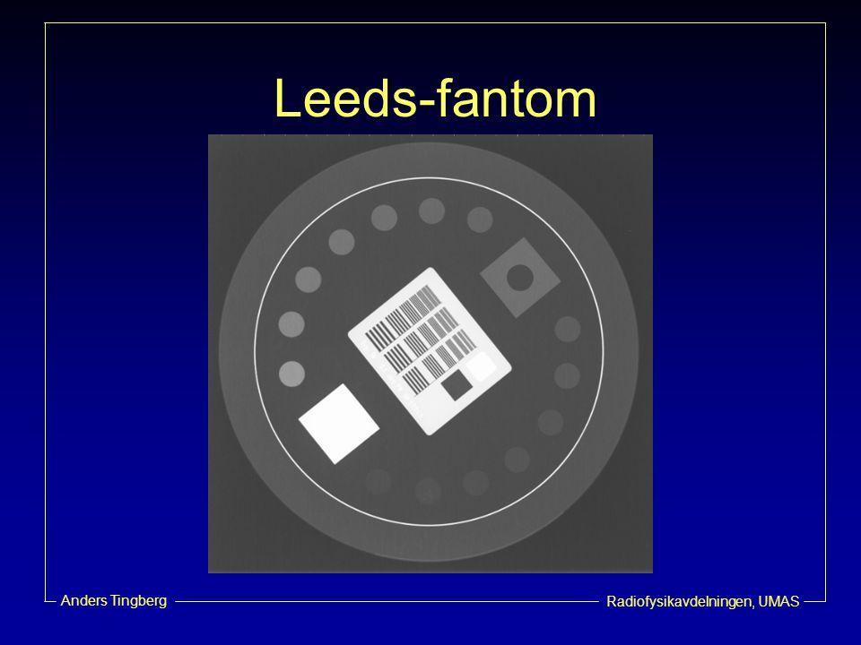 Radiofysikavdelningen, UMAS Anders Tingberg Leedsfantom på anatomisk bakgrund