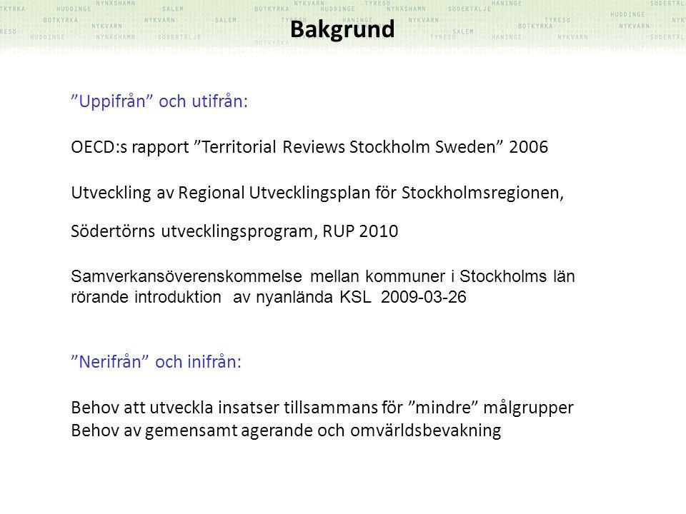 """""""Uppifrån"""" och utifrån: OECD:s rapport """"Territorial Reviews Stockholm Sweden"""" 2006 Utveckling av Regional Utvecklingsplan för Stockholmsregionen, Söde"""