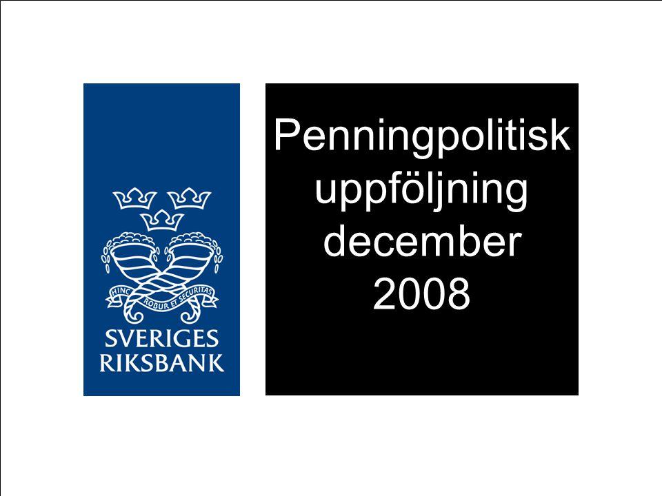 Försvagning av kronan TCW-index 1992-11-18=100 Källa: Riksbanken Anm.