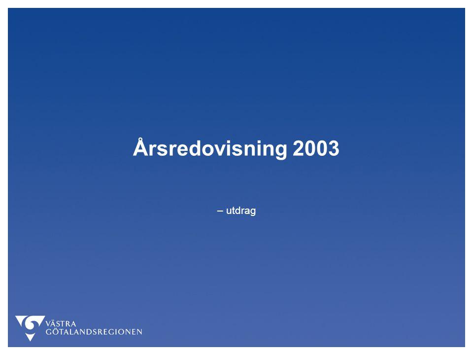 Årsredovisning 2003 – utdrag