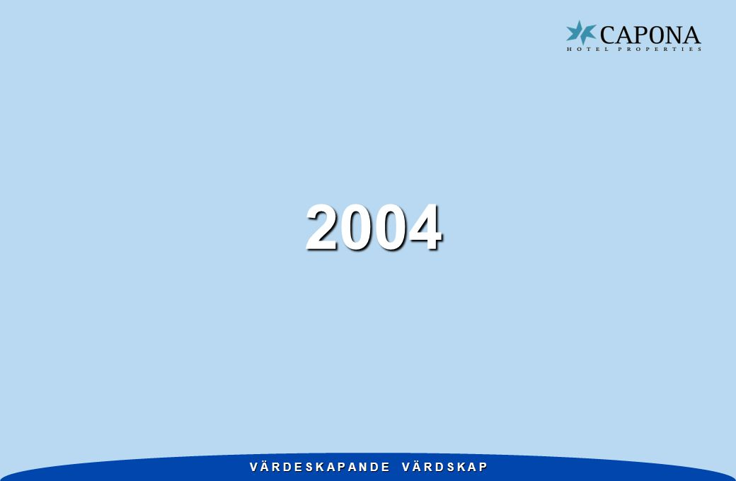 V Ä R D E S K A P A N D E V Ä R D S K A P 2004