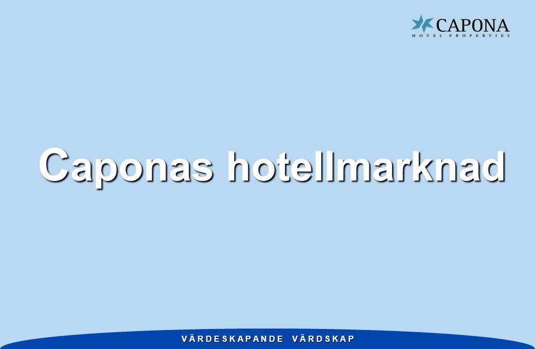 V Ä R D E S K A P A N D E V Ä R D S K A P Caponas hotellmarknader i Sverige cirka 550 hotell