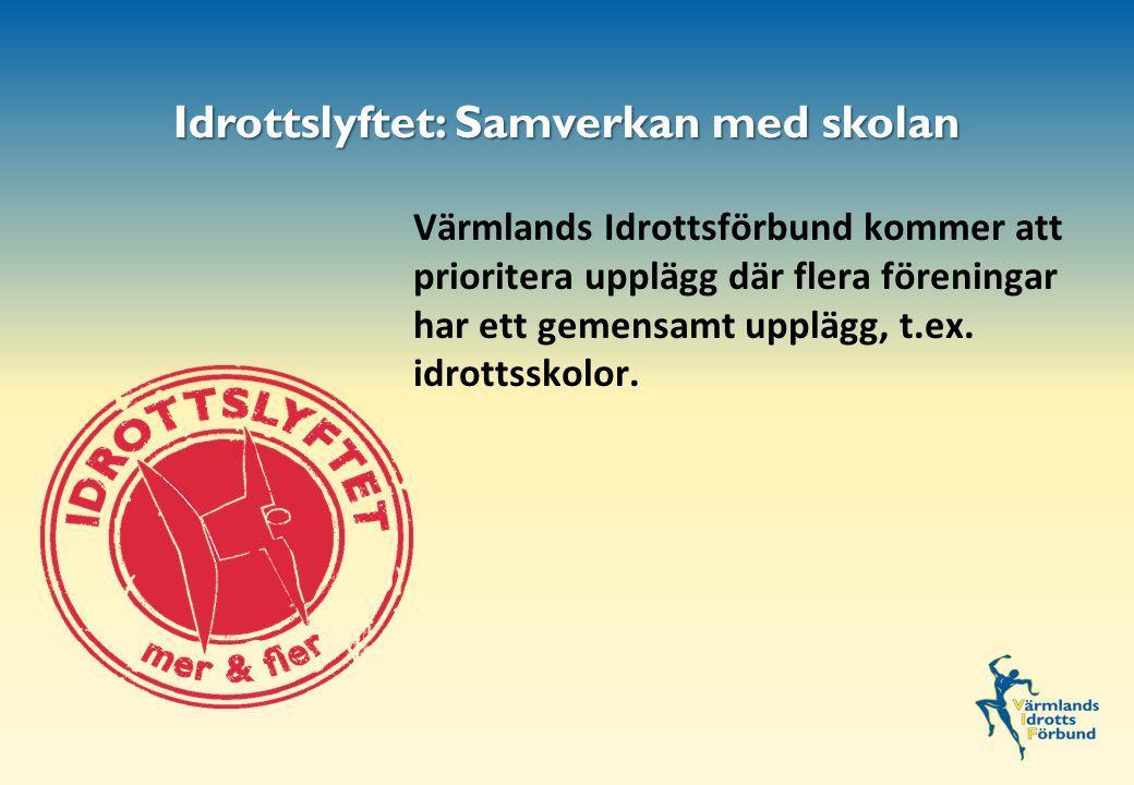 Värmlands Idrottsförbund kommer att prioritera upplägg där flera föreningar har ett gemensamt upplägg, t.ex.