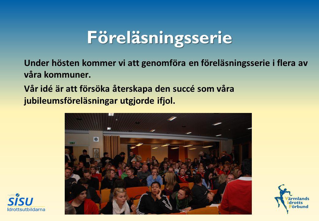Under hösten kommer vi att genomföra en föreläsningsserie i flera av våra kommuner.
