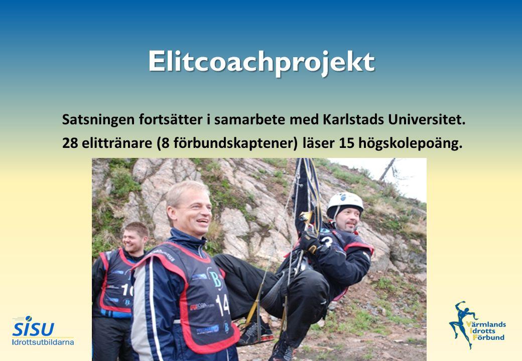Elitcoachprojekt Satsningen fortsätter i samarbete med Karlstads Universitet.
