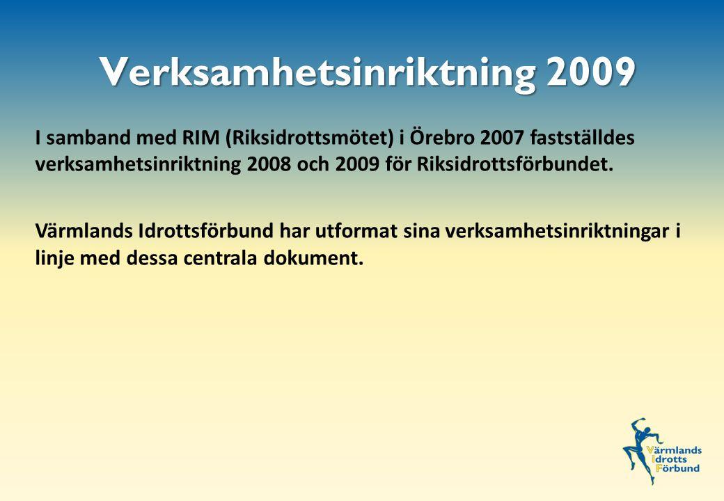 I samband med RIM (Riksidrottsmötet) i Örebro 2007 fastställdes verksamhetsinriktning 2008 och 2009 för Riksidrottsförbundet.