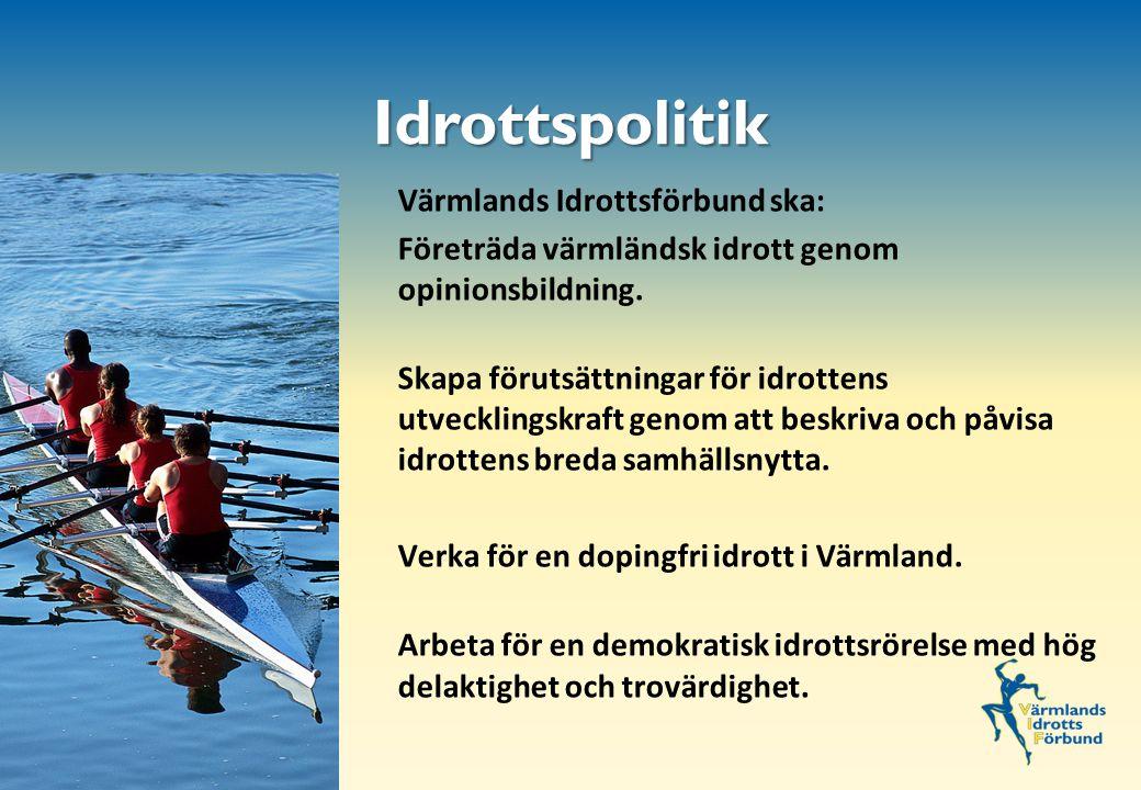 Värmlands Idrottsförbund ska: Företräda värmländsk idrott genom opinionsbildning.