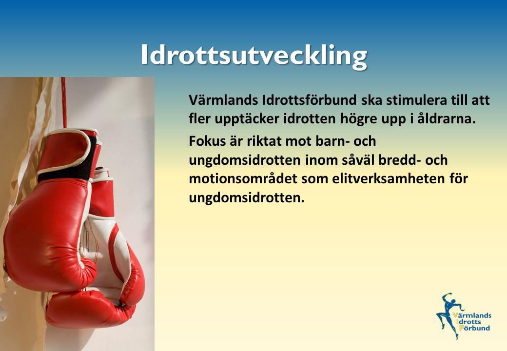 Värmlands Idrottsförbund ska stimulera till att fler upptäcker idrotten högre upp i åldrarna.