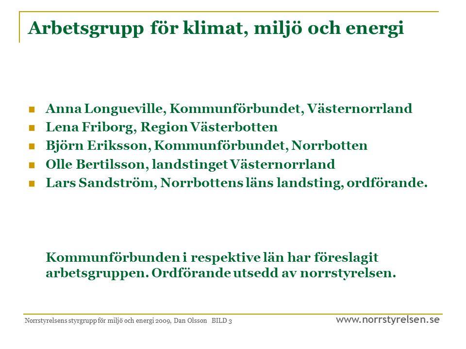 www.norrstyrelsen.se Norrstyrelsens styrgrupp för miljö och energi 2009, Dan Olsson BILD 4 Rapportens innehåll Uppdraget Sammanfattning Bakgrund Strategiska vägval Hållbart näringsliv och miljödriven affärsutveckling Region Norrlands svagheter Energiintensiv industri i Region Norrland Internationell utblick Internationell samverkan Tillväxt, välfärd, ansvar Regionala miljö- och energistrategier Regionala miljömål/miljömålsuppföljning Tillämpad forskning inom miljö och energi Befintliga aktörer och ansvarsområden Centrumbildning för energi Centrumbildningens verksamhetsinriktning Koppling till arbetet med RTP Nuvarande politisk inriktning Mål 2020 och 2050 för EU och Sverige Avslutande synpunkter Bilagor: Klimat och energistrategi för Norrbottens län, 2008.