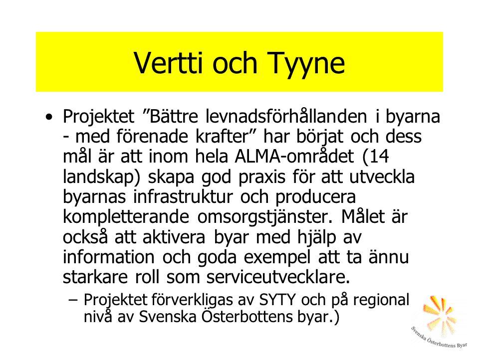 """Vertti och Tyyne Projektet """"Bättre levnadsförhållanden i byarna - med förenade krafter"""" har börjat och dess mål är att inom hela ALMA-området (14 land"""