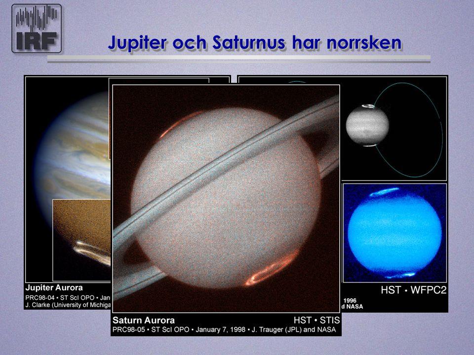 Jupiter och Saturnus har norrsken